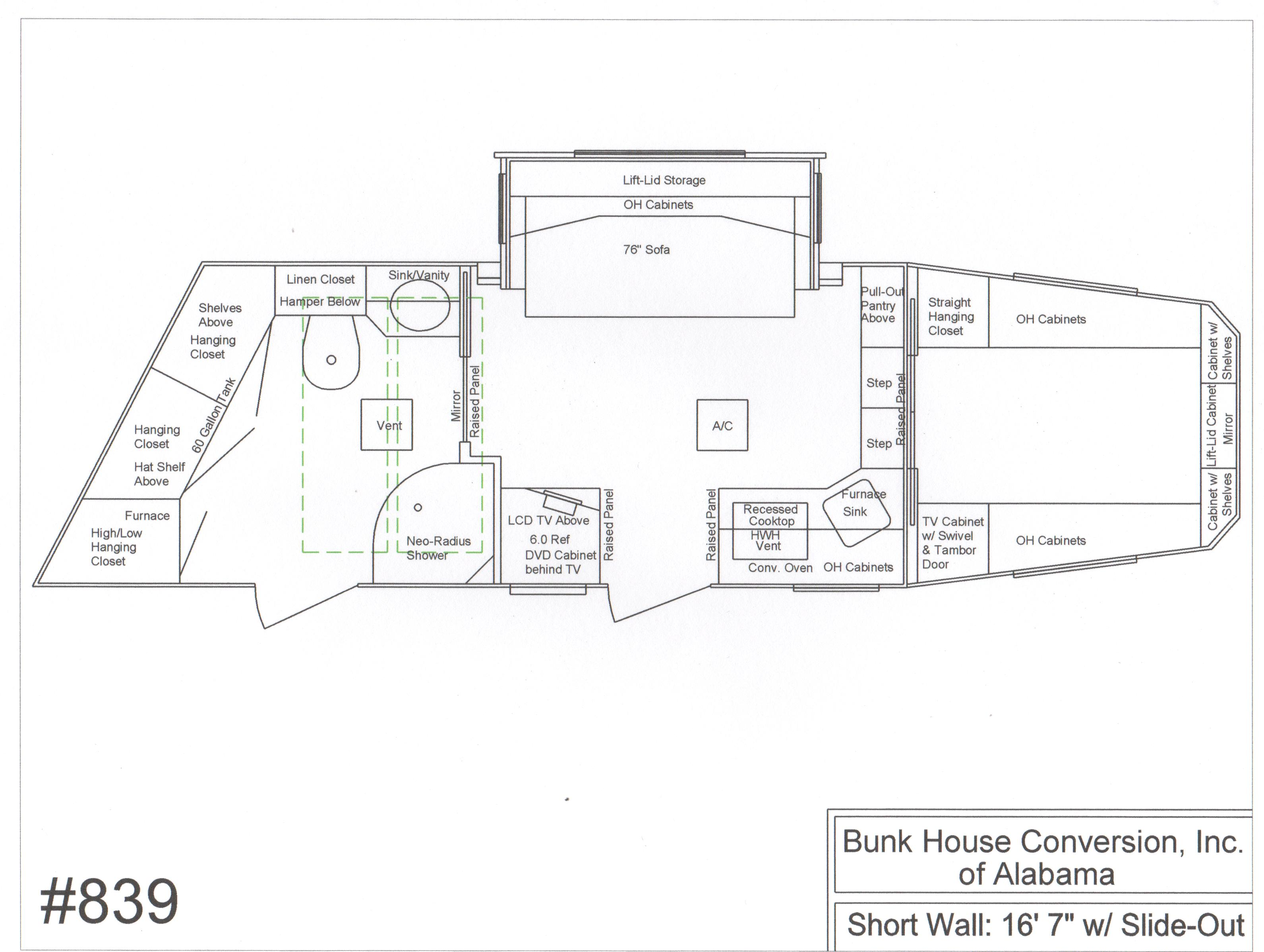 Congress Floorplans By Bunkhouse Conversion Of Alabama: bunkhouse floor plans